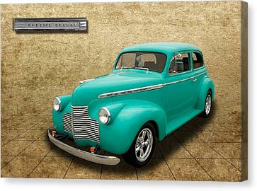 1940 Chevrolet Special Deluxe Sedan - V3 Canvas Print