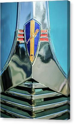 1940 Dodge Business Coupe Emblem Canvas Print by Jill Reger