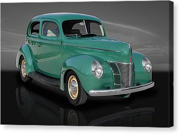 1940 Ford Deluxe Coupe Canvas Print by Frank J Benz