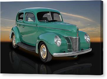 1940 Ford V8 Deluxe Coupe Canvas Print