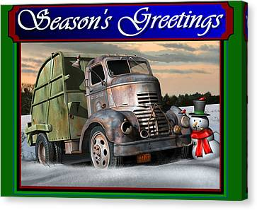 1940 Gmc Christmas Card Canvas Print by Stuart Swartz