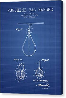 1940 Punching Bag Hanger Patent Spbx13_bp Canvas Print by Aged Pixel