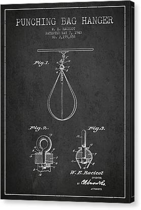 1940 Punching Bag Hanger Patent Spbx13_cg Canvas Print by Aged Pixel