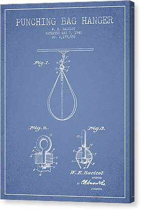 1940 Punching Bag Hanger Patent Spbx13_lb Canvas Print by Aged Pixel