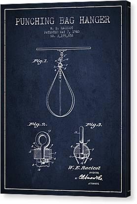 1940 Punching Bag Hanger Patent Spbx13_nb Canvas Print by Aged Pixel