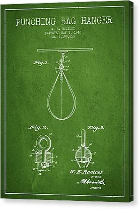 1940 Punching Bag Hanger Patent Spbx13_pg Canvas Print by Aged Pixel