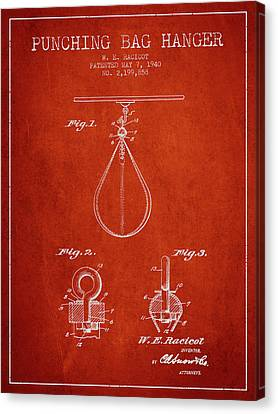 1940 Punching Bag Hanger Patent Spbx13_vr Canvas Print by Aged Pixel