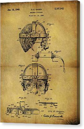 1940 Welder Goggles Patent Canvas Print by Dan Sproul