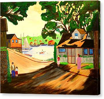 1940s Smith Cove From Rocky Neck Gloucester Ma Canvas Print