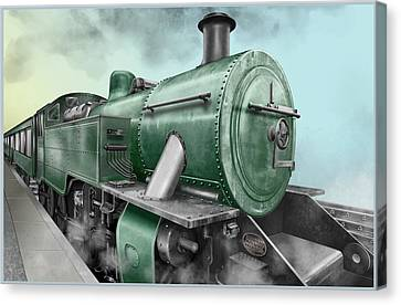 1940's Steam Train Canvas Print by Marty Garland