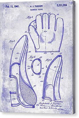 1941 Baseball Glove Patent Blueprint Canvas Print by Jon Neidert