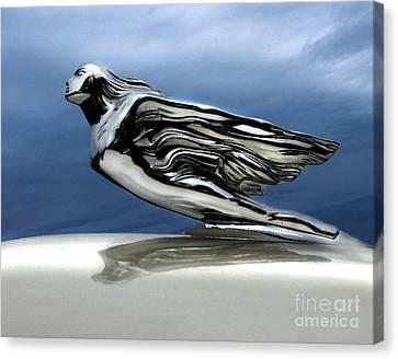 1941 Cadillac Emblem Abstract Canvas Print by Peter Piatt