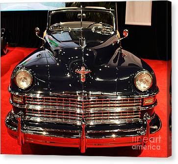 1941 Cadillac Series 62 Convertible Coupe Canvas Print - 1941 Cadillac Series 62 Convertible Coupe . Front View by Wingsdomain Art and Photography