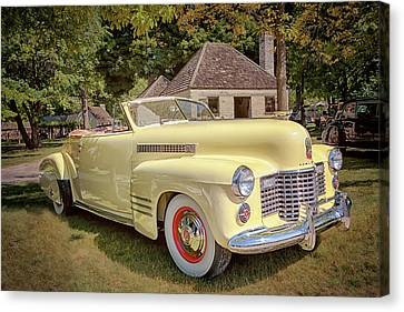 1941 Cadillac Series 62 Convertible Coupe Canvas Print - 1941 Cadillac Series 62 Convertible Coupe by Susan Rissi Tregoning