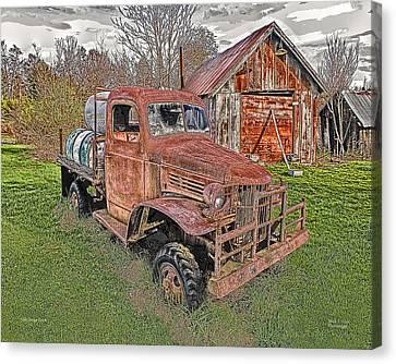 1941 Dodge Truck #2 Canvas Print by Mark Allen