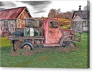 1941 Dodge Truck Canvas Print by Mark Allen