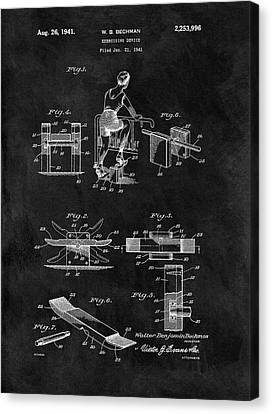 1941 Exercising Apparatus Patent Canvas Print by Dan Sproul