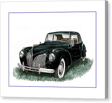 1941 Lincoln Continental Mk 1 Canvas Print by Jack Pumphrey