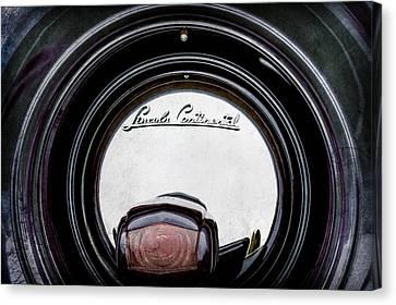 1941 Lincoln Continental Spare Tire Emblem - 1963ac Canvas Print