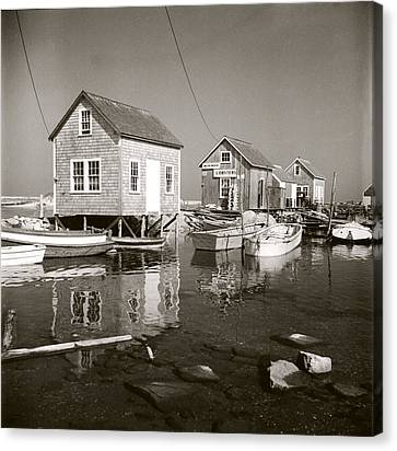 Canvas Print featuring the photograph 1941 Lobster Shacks, Martha's Vineyard by Historic Image