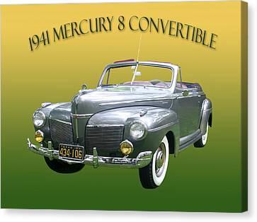 1941 Mercury Eight Convertible Canvas Print by Jack Pumphrey