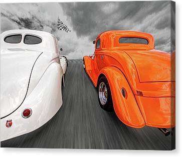 1941 Willys Vs 1934 Ford Coupe Canvas Print