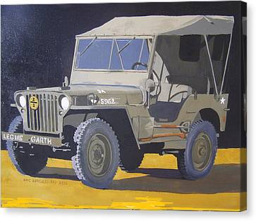 1942 Us Army Willys Jeep Canvas Print