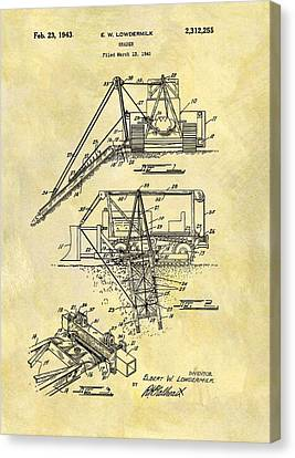 1943 Grader Patent Canvas Print by Dan Sproul