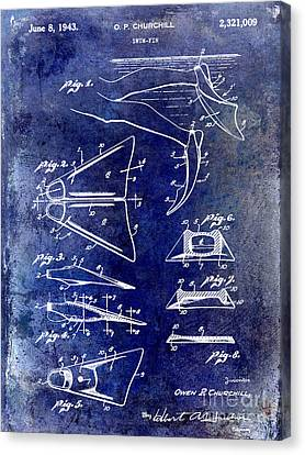1943 Scuba Fins Patent Canvas Print by Jon Neidert
