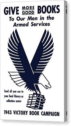 1943 Victory Book Campaign Canvas Print by War Is Hell Store