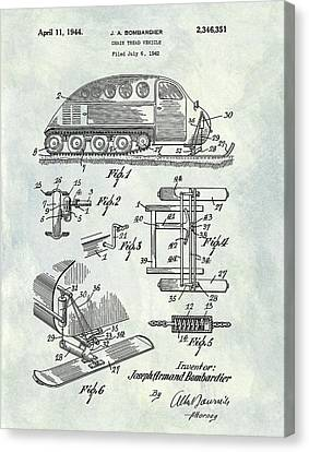1944 Chain Tread Vehicle Patent Canvas Print by Dan Sproul