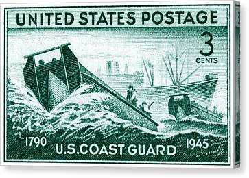 1945 Coast Guard Issue Stamp Canvas Print by Historic Image