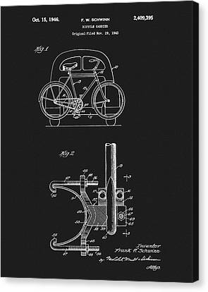 Rack Canvas Print - 1946 Bicycle Carrier Patent by Dan Sproul