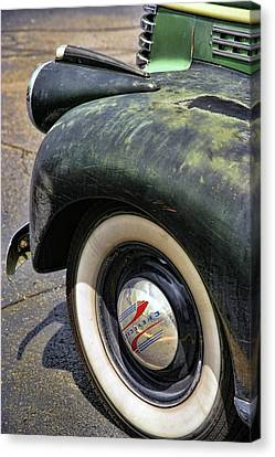 Long Bed Canvas Print - 1946 Chevy Pick Up by Gordon Dean II