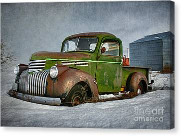 1946 Chevy Truck Canvas Print by Beve Brown-Clark Photography