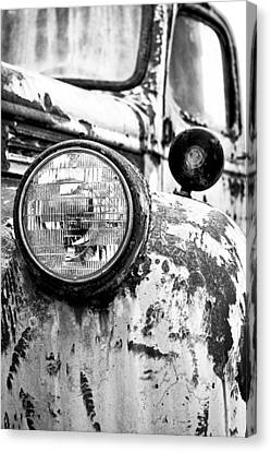 1946 Chevy Work Truck - Headlight Detail Canvas Print by Jon Woodhams