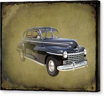 Canvas Print featuring the photograph 1946 Dodge D24c Sedan by David Dehner