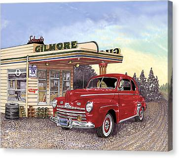 1946 Ford Deluxe Coupe Canvas Print by Jack Pumphrey