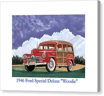1946 Ford Woody Canvas Print by Jack Pumphrey