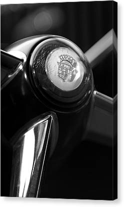 1947 Cadillac Steering Wheel Canvas Print by Jill Reger