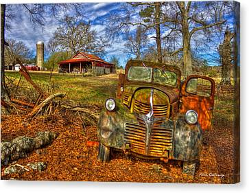 1947 Dodge Truck Country Scene Art Canvas Print by Reid Callaway