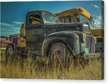 1947 Ford Cab And Chassis Canvas Print by Constance Puttkemery
