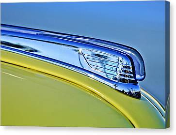 1947 Ford Super Deluxe Hood Ornament 2 Canvas Print by Jill Reger