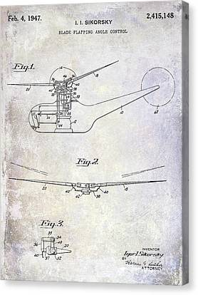 1947 Helicopter Patent Canvas Print by Jon Neidert