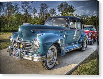 1947 Hudson Commodore Side View Canvas Print by Debra and Dave Vanderlaan