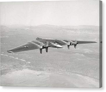 Canvas Print featuring the photograph 1947 Northrop Flying Wing by Historic Image