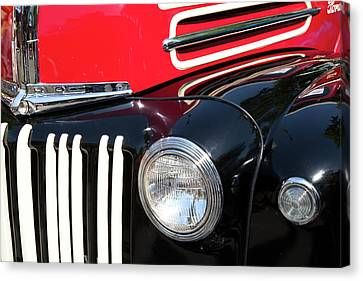 Canvas Print featuring the photograph 1947 Vintage Ford Pickup Truck by Theresa Tahara