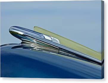 1948 Chevrolet Fleetline Hood Ornament Canvas Print by Jill Reger