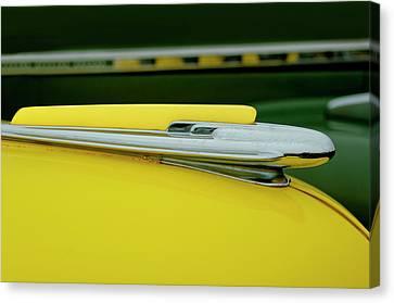 1948 Chevrolet Fleetmaster Hood Ornamnet Canvas Print by Jill Reger