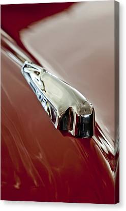 1948 Crosley Convertible Hood Ornament Canvas Print by Jill Reger